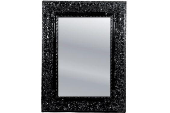 Un miroir baroque noir pour une d coration chic c 39 est for Miroir baroque blanc