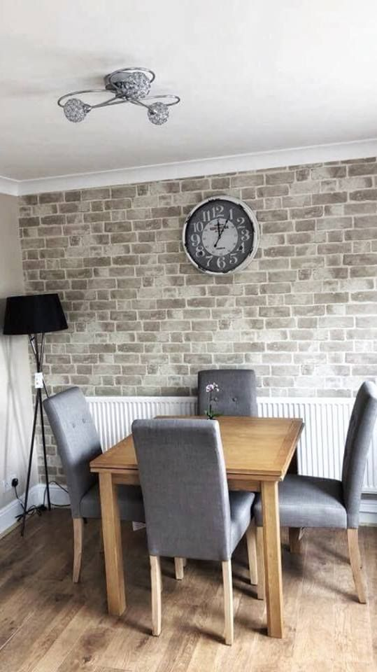 Distinctive Brick Wallpaper Cream Taupe Brick Wallpaper Living