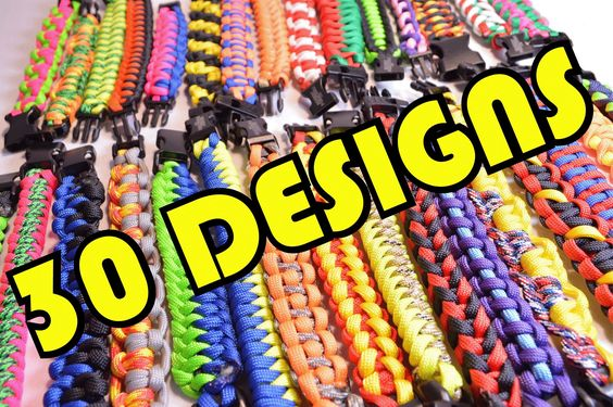 Special shoutout to BoredParacord for this one!! 30 paracord bracelet designs in 2 minutes?! Check out this awesome video: https://www.youtube.com/watch?v=dSfC69YhhY0