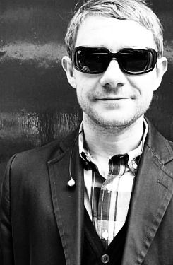 """""""I decided that I really do love Martin Freeman... Everything about him. That he swears inappropriately, that he dresses with style and makes goofy faces with such grace and that he loves his wife and life... So yep. My heart goes pitter patter for him though I would never ever admit it in real life. Thanks Martin for the smiles. :]"""" - Martin is precious and I adore him more every day. :)"""