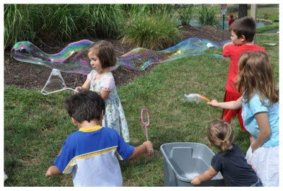 Homemade bubbles and other activities with just a few ingredients you probably have on hand!