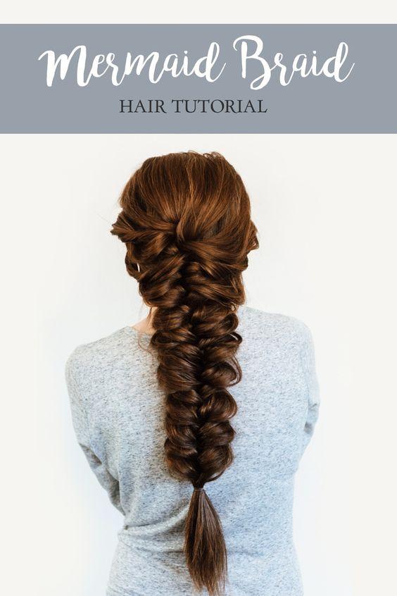 mermaid braid hair tutorial | :: BEAUTY :: | Pinterest