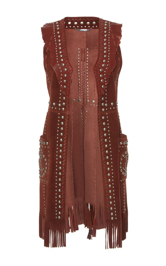 Studded Leather Vest by ROBERTO CAVALLI for Preorder on Moda Operandi