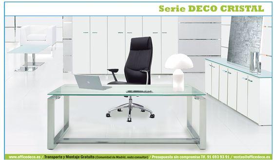 Serie de mobiliario de Cristal con un diseño moderno y funcional acorde con las últimas tendencias de decoración en muebles de oficina.