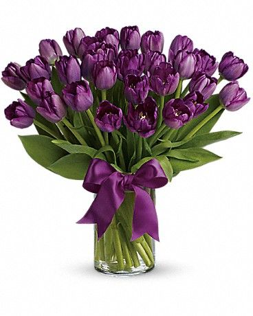 Passionate Purple Tulips Bouquet: