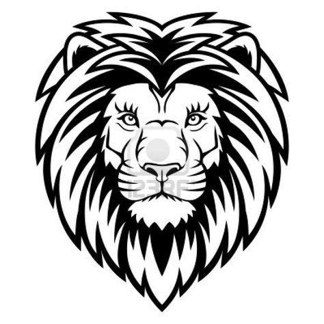Ein Lowenkopf Logo In Schwarz Und Weiss Dies Ist Vektor Illustration Ideal Fur Ein Maskottchen Und Tattoo Oder T Shirt Grafik Lowenzeichnung Tierlogo Lowen Illustration