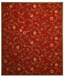 @Overstock.com - This beautiful Ruby Garden area rug is styled with an allover floral pattern in rich shades of red, green, and gold. The nylon of this rug is resistant to stains and backed with high quality rubber for gorgeous longevity.http://www.overstock.com/Home-Garden/Ruby-Garden-Red-Floral-Rug-92-x-123/6805300/product.html