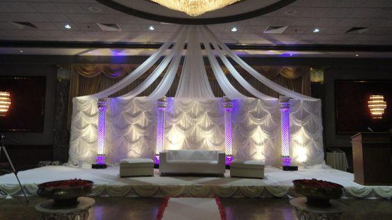 head table decor, wedding reception decor by Alankar in MA.