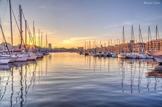 Vieux-Port Coucher de soleil sur le Vieux-Port