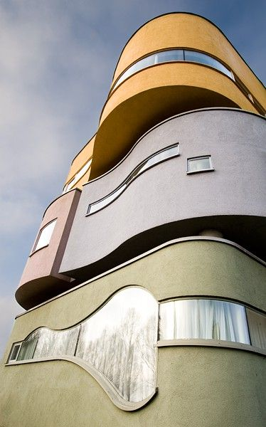 Wall House 2, originally designed by John Hejduk in the 1970s. Build in 2001 in the ...