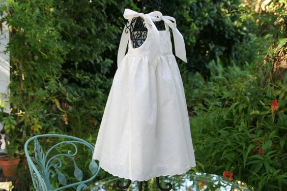 Ivory Flower Girl Dress fully lined  available in by AnastaciayGus, $59.00