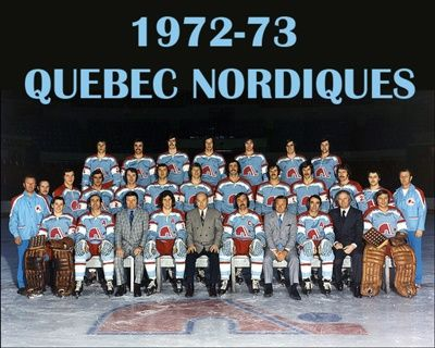 The first uniform of the Quebec Nordiques of the WHA.: Nhl Wha Team, Nordiques Season, Hockey Logos, Sports Logos, Sports Uniforms, Nordiques Wha, Team Photos