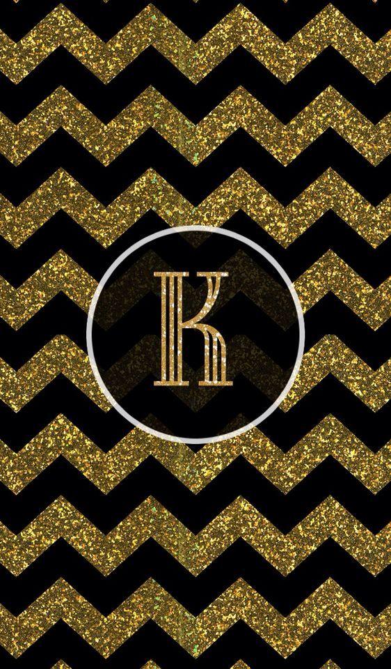 gold k chevron   Glitter/ Sparkles   Pinterest   Chevron ...