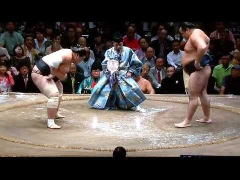 September 2015 - Day 15 - Terunofuji v Kakuryu - YouTube