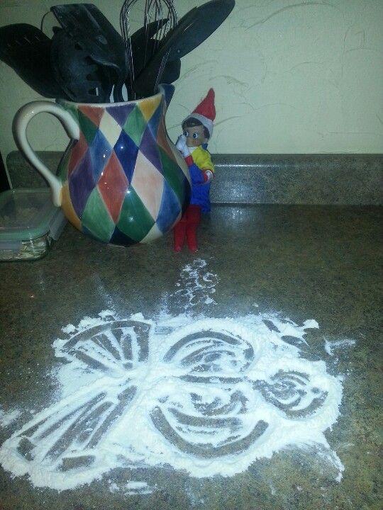 Flour snowman