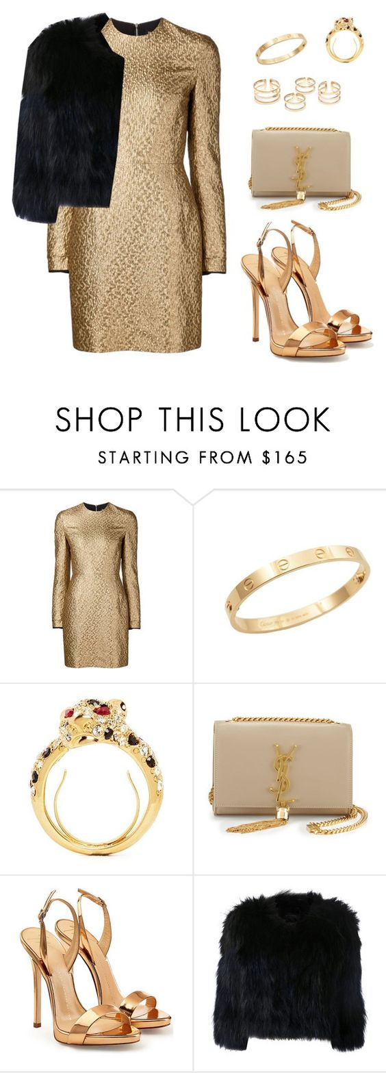 """""""Без названия #42"""" by lilyakostishin ❤ liked on Polyvore featuring Creatures Of The Wind, Cachet, Kenneth Jay Lane, Yves Saint Laurent, Giuseppe Zanotti and H Brand"""