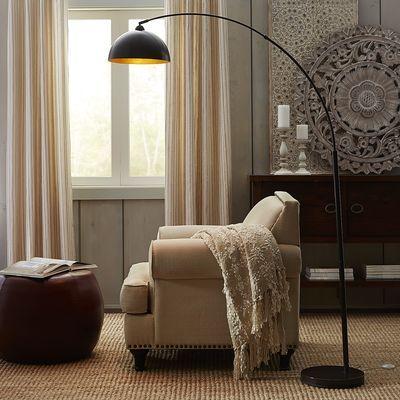 Golden arc floor lamp floors lamps for living room and for Arch floor lamps for living room