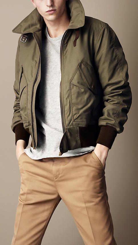 Burberry Brit Waxed Cotton Bomber Jacket Abrigos De Hombre Mensfashionwear Trindu Hipster Mens Fashion Mens Fashion Rugged Mens Outfits