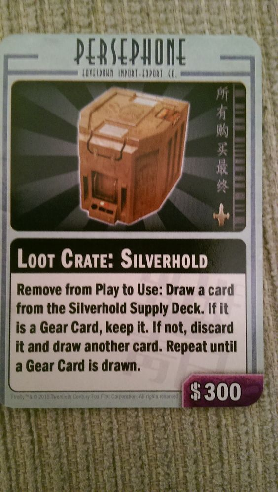 Firefly: The Game – Silverhold Loot Crate