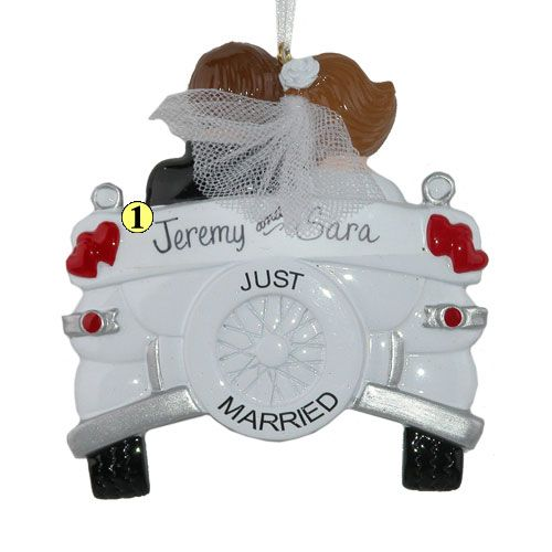 Just Married Christmas Ornament....Troy and I want to get something like that.
