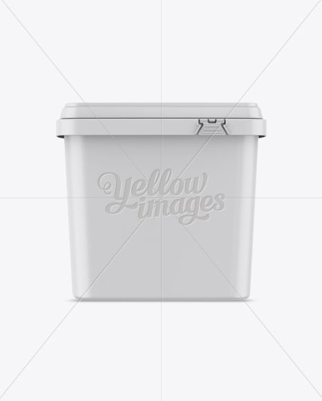 Matte Plastic Container Mockup – Front View