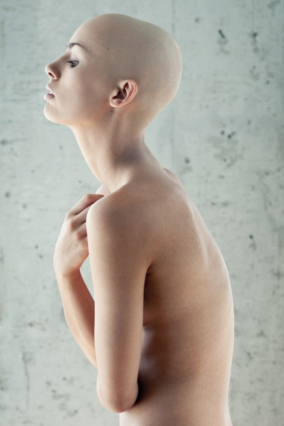 Female shaved head picture