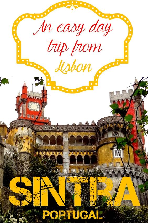 Planning a day trip out to Sintra from Lisbon is very easy with my detailed guide.  You will feel like a kid for a day when you go to Sintra.  You will have the opportunity to play around a pretty palace and stomp around the grounds of an old castle, with opportunities for amazing pictures around every corner.