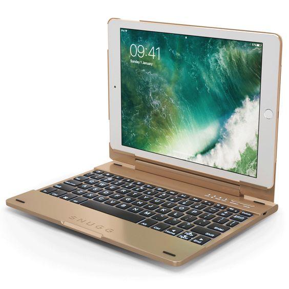 Snugg iPad Pro 9.7 Gold Bluetooth Keyboard Case