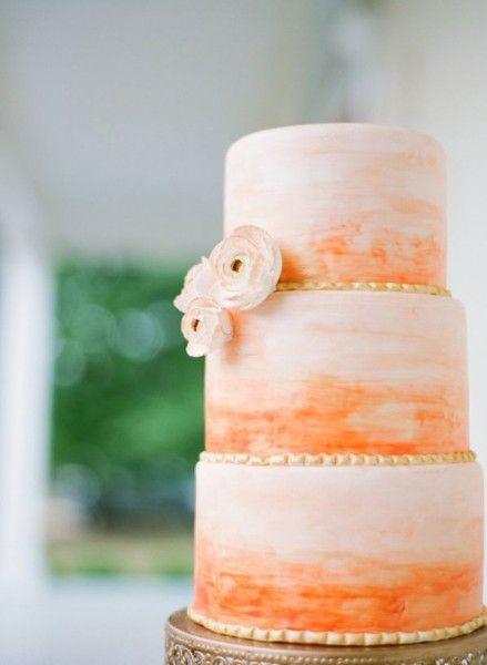 Orange colored cake - Wedding Diary