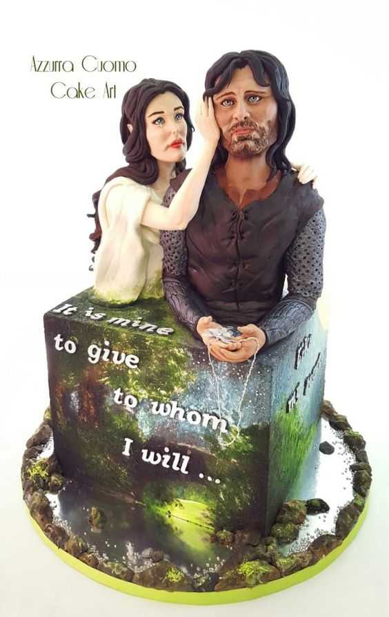 """The Lord Of The Rings """"Be my Valentine! movie nights""""- Cake Collaboration by Azzurra Cuomo Cake Art"""