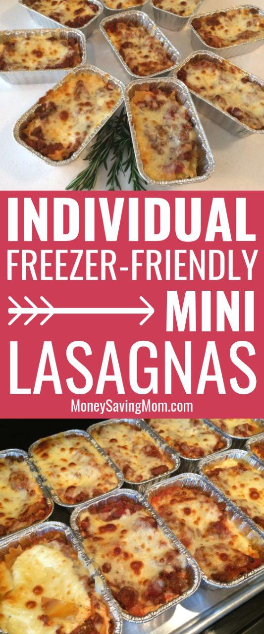 Easy Individual Mini Lasagnas {Freezer-Friendly!} | Money Saving Mom®