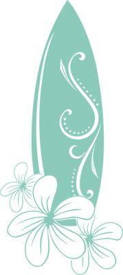 Wandtattoo Wandaufkleber Surfbrett mit Blumen Badezimmer Jugendzimmer