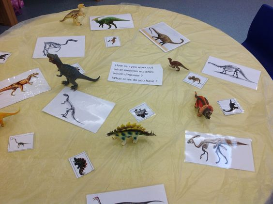 reception uw dinosaur topic the children have to match the skeleton to the dinosaur. Black Bedroom Furniture Sets. Home Design Ideas