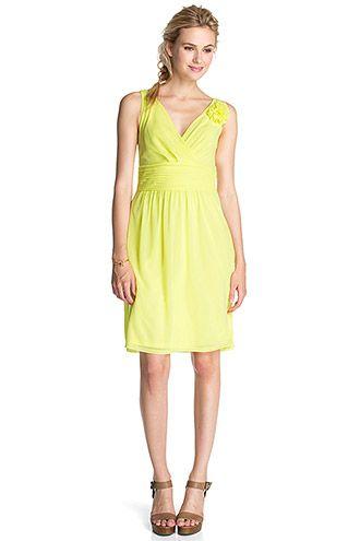 Esprit - Mesh Kleid + Blütenbrosche im Online Shop kaufen