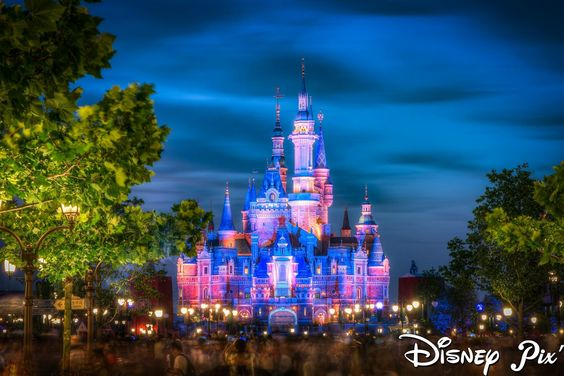 Disney Castle (Pink and Blue)