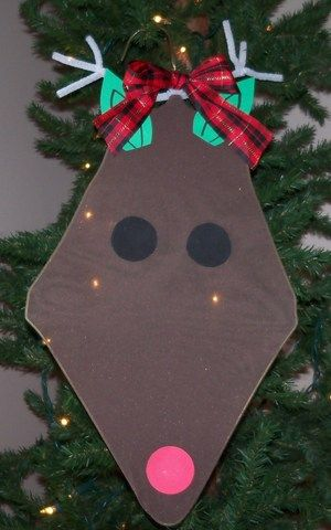 Christmas ornament with pantyhose