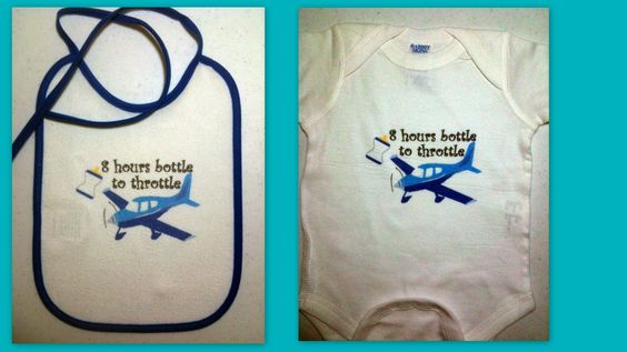 Them's the rules Flyboy!  A terrific shower gift set from La Petite Pilot. Visit us on Facebook or at; http://LaPetitePilot.blogspot.com
