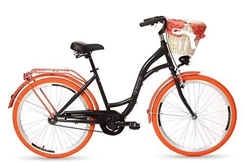 Goetze Colours 26 Zoll Damen Citybike Stadtrad Damenfahrrad Damenrad Hollandrad Retro Design Korb Hinterradbremse Led Beleuchtung Sch Damenfahrrad Klapprad Rad