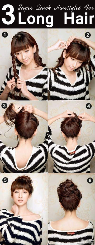 Surprising Quick Hairstyles Hairstyle For Long Hair And Hairstyles On Pinterest Hairstyles For Women Draintrainus