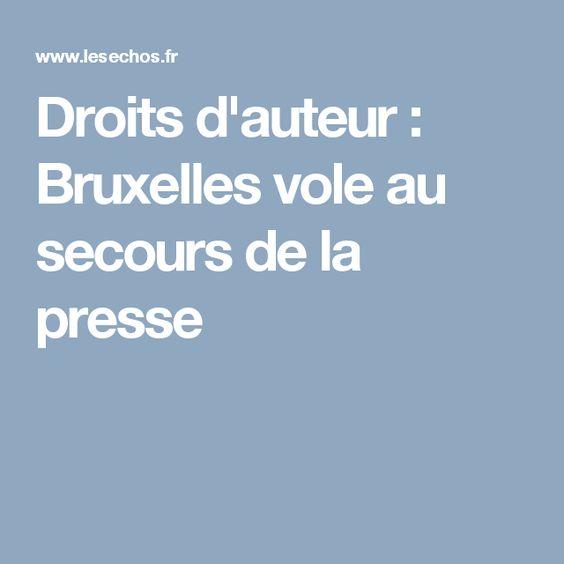 Droits d'auteur : Bruxelles vole au secours de la presse