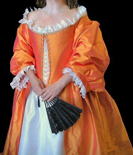 Baroque period costumes and the o 39 jays on pinterest for Period style wedding dresses