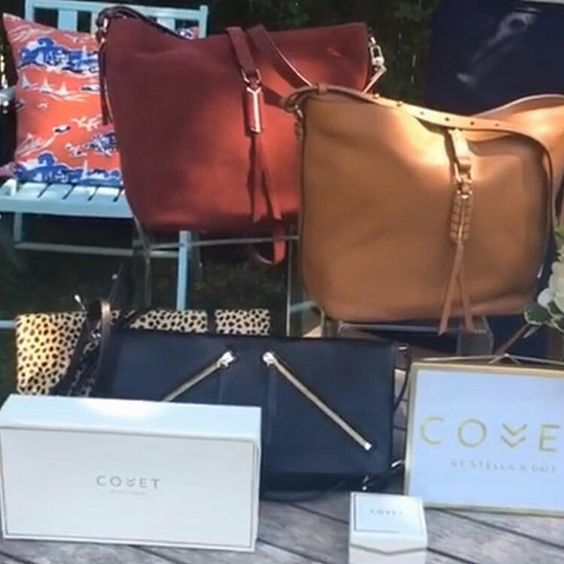 Sneak peak of luxury leather from the Covet line launching in early September! So excited! #stella&dot Www.Stelladot.Com/courtneyjohnson