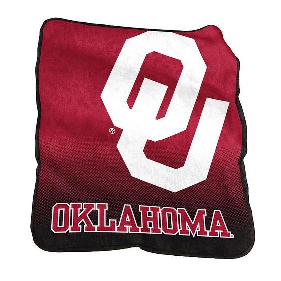 Logo Brand Oklahoma Sooners Raschel Throw Blanket, Red