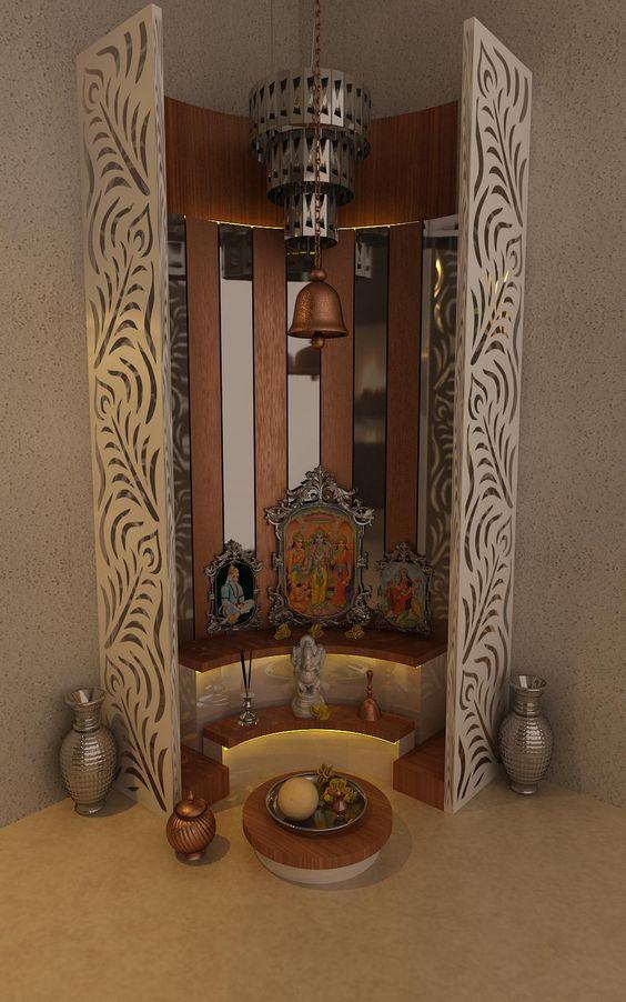 Pooja Room By Kamlesh Maniya Interior Designer In Surat Gujarat India