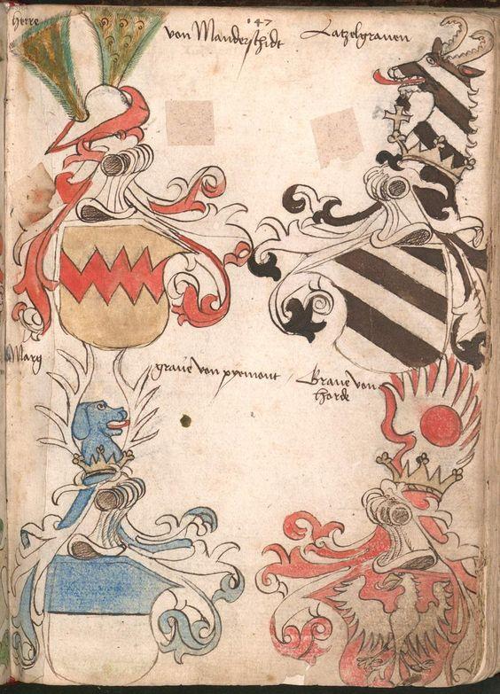Wernigeroder (Schaffhausensches) Wappenbuch Süddeutschland, 4. Viertel 15. Jh. Cod.icon. 308 n  Folio 147r