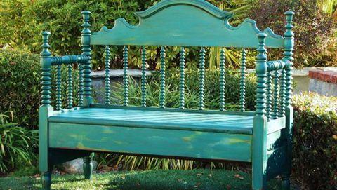 Create A Diy Garden Bench Using Items You Already Have At Home Garden Bench Diy Upcycle Garden Garden Bench