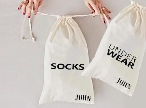 Socks Under Wear Travel Bag I Custom Travel Bag Torba Szycie