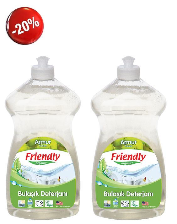 Friendly Organic Bulaşık El Deterjanı Armutlu 2 ADET 739 ml