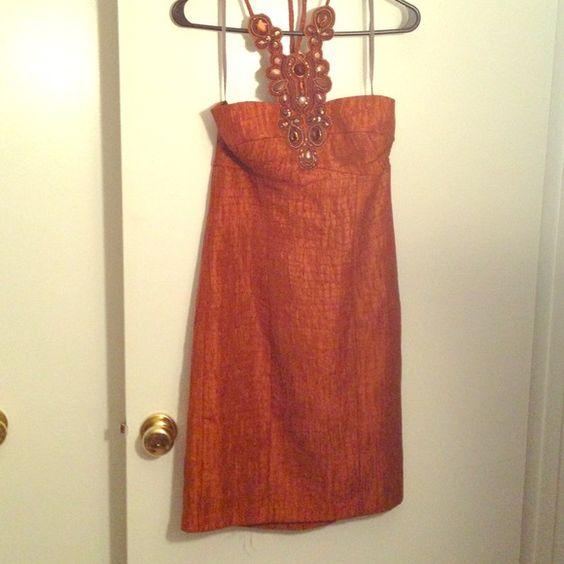 Burnt orange Boston proper dress Beautiful muse dress perfect for the fall! Brand new w tags muse by Boston proper Dresses