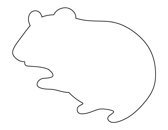 Hamster Pattern Use The Printable Outline For Crafts